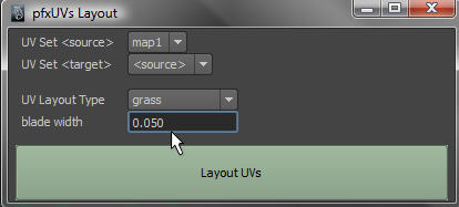 UI showing grass mode